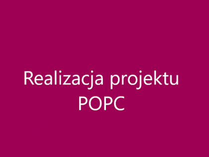 Realizacja projektu POPC