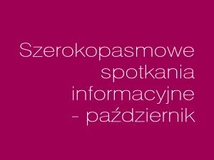 Harmonogram październikowych spotkań informacyjnych
